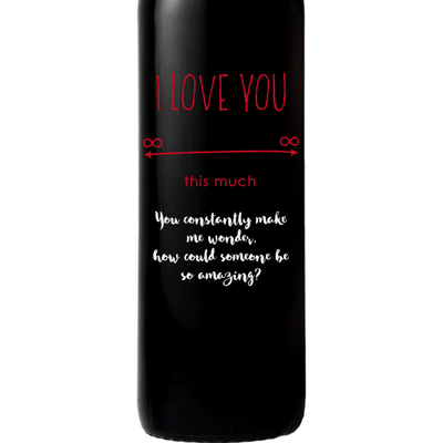 Personalized Red Wine Bottle Gift- Infinite Love custom wine gift