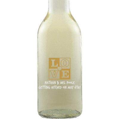 Mini White Wine Wedding Favors (Case of 12) - Love Box Heart Mini