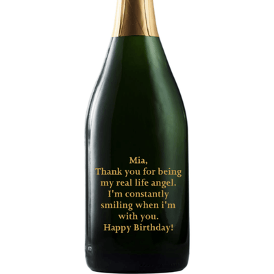 Champagne - Custom Birthday Text