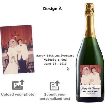 Personalized wine label on champagne- Upload your Photo for an any occasion gift