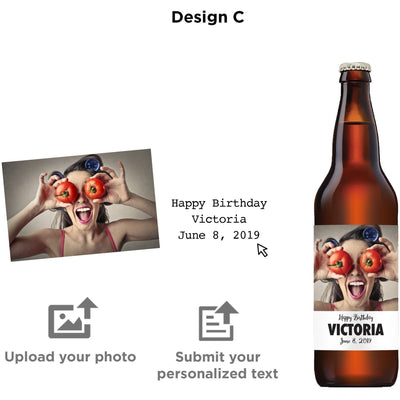 Personalized beer label - Upload your Photo for an any occasion gift