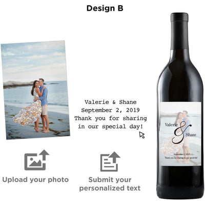 Personalized wine label on red wine - Upload your Photo for an any occasion gift