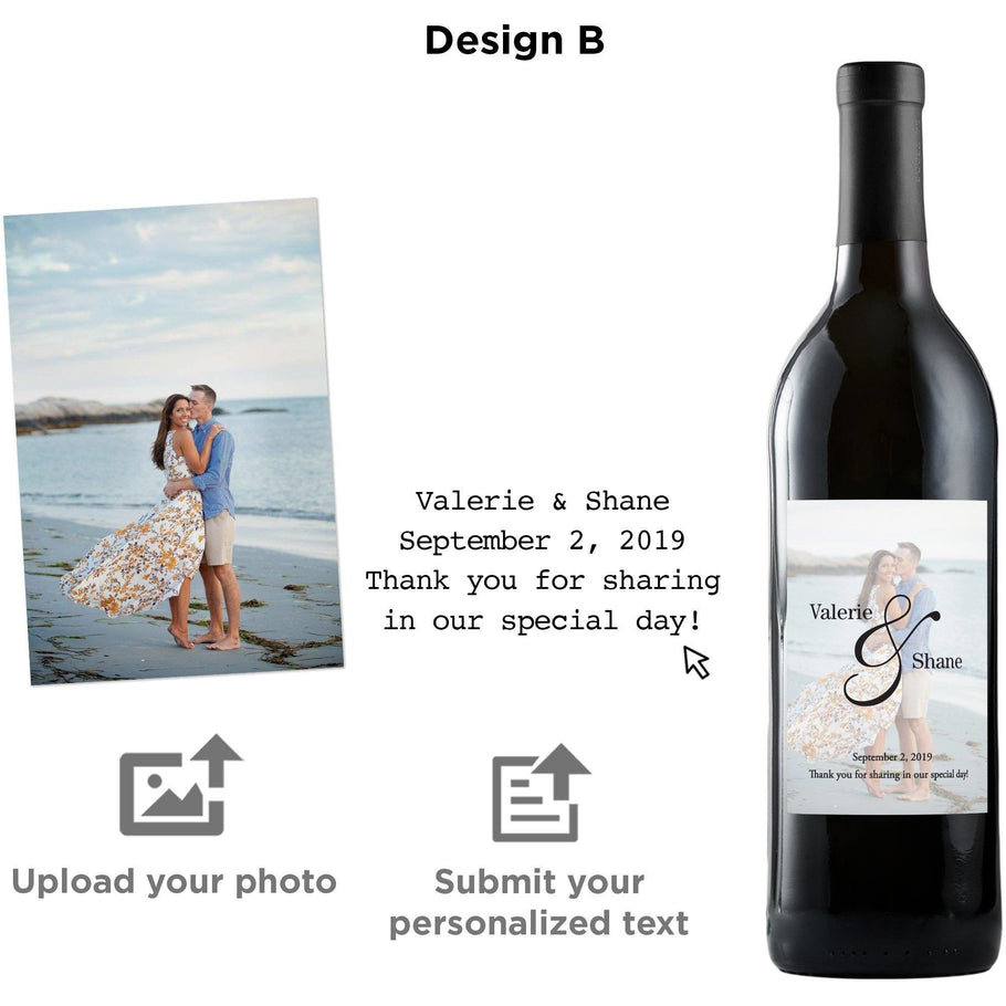 Red Wine - Custom Label with your Photo!
