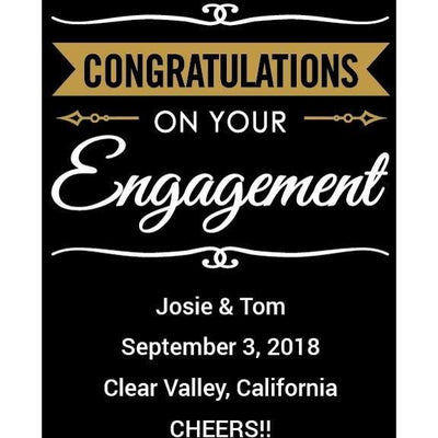 Personalized White Wine - Congratulations Engagement Banner
