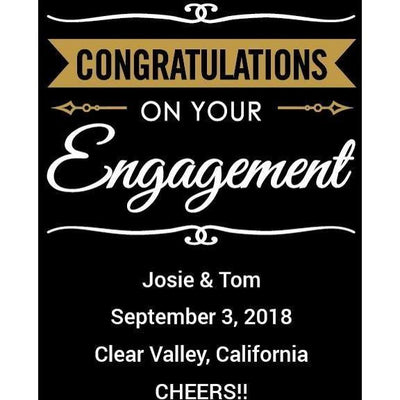 Red Wine - Congratulations Engagement Banner