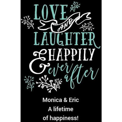 Personalized Etched Red Wine Gift - Love and Laughter