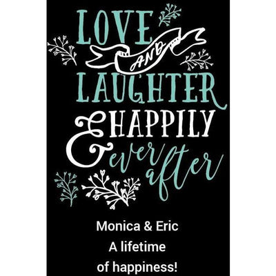 Personal Etched Beer Growler Gift - Love and Laughter