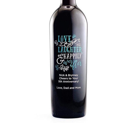 Personalized Red Wine Bottle Gift- Love and Laughter