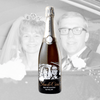 Wedding Photo on Champagne bottle by Etching Expressions