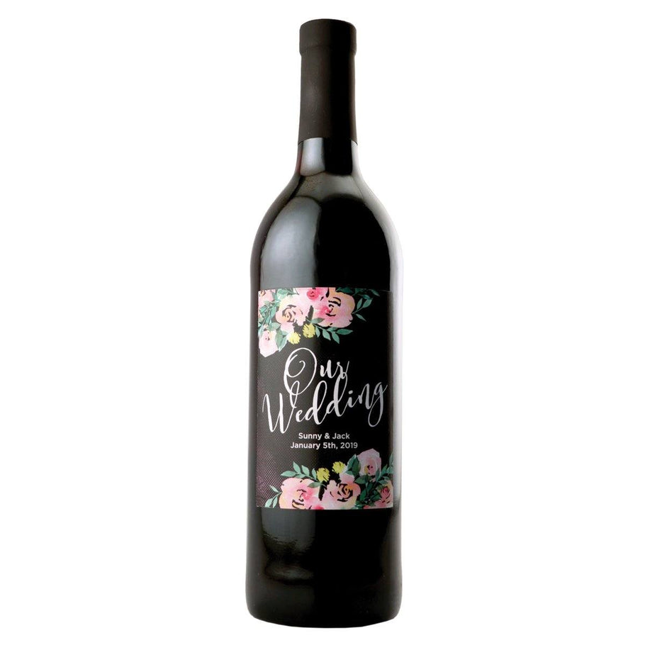 Red Wine - Our Wedding Label