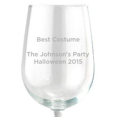 Red Wine Glass - Custom Text