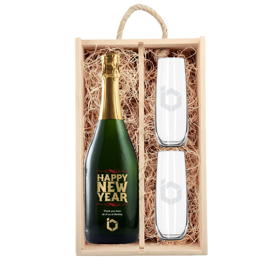 Champagne - Happy New Year Bold - Corporate Gift Set