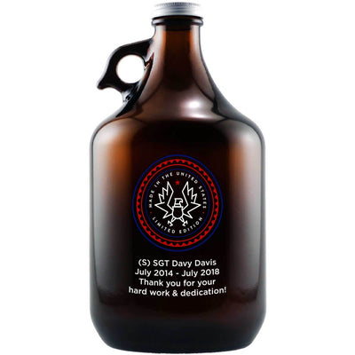 Made In the United States patriotic beer gift custom engraved beer growler by Etching Expressions