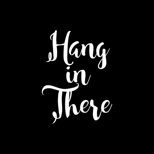 Custom etched white wine - Hang in There