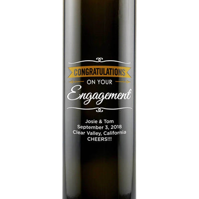 Balsamic Vinegar / Olive Oil - Congratulations Engagement Banner