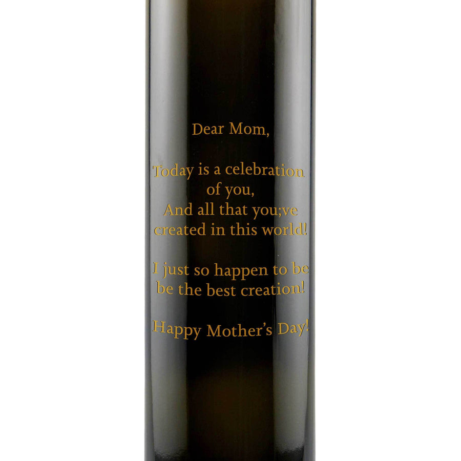 Custom text etched on gourmet olive oil bottle chef gift by Etching Expressions