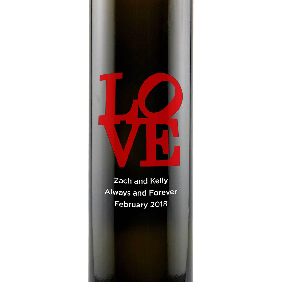 Personalized Etched Balsamic Vinegar / Olive Oil - Love Square
