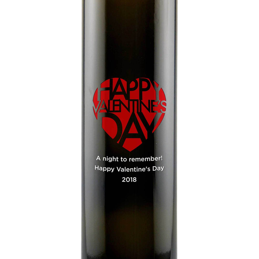 Happy Valentine's Day custom etched olive oil bottle Valentine's Day gift for chef by Etching Expressions