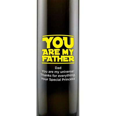 You are My Father custom etched olive oil gift for Father's Day by Etching Expressions