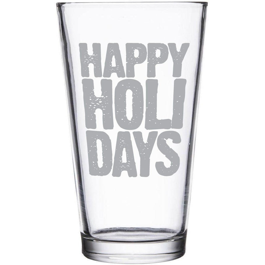 Beer Pint Glass - Happy Holidays
