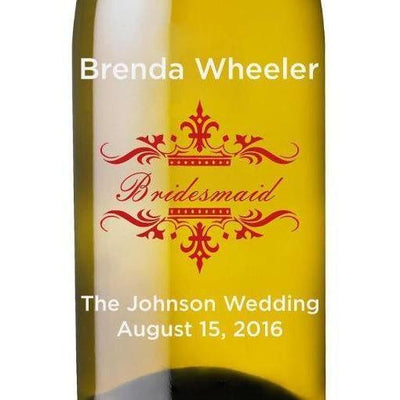 Personalized White Wine - Traditional Wedding Party
