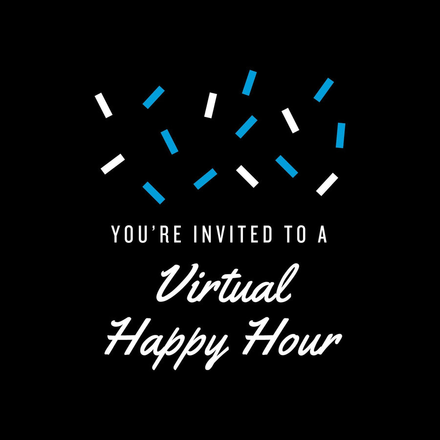 Personalized champagne bottle -You're Invited to a Virtual Happy Hour