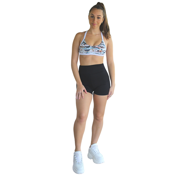 Kali Seamless High Rise Yoga Shorts - Black
