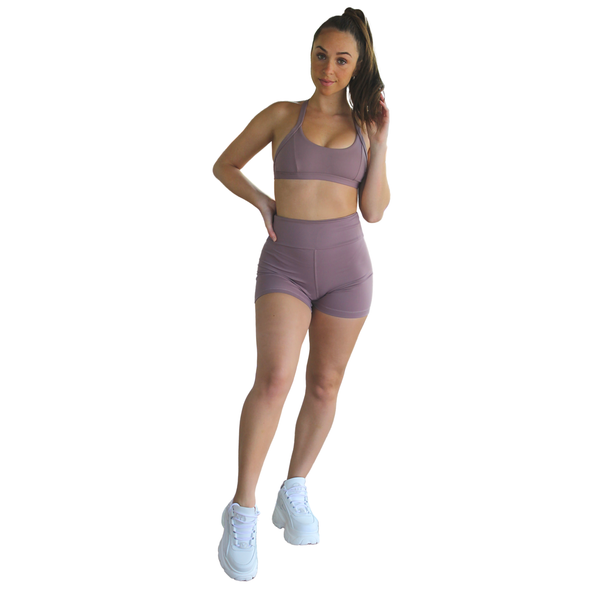 Satya Sports Bra - Plum
