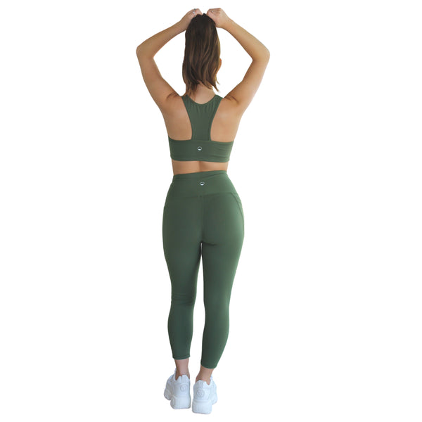 Ananda Racerback Sports Bra - Green