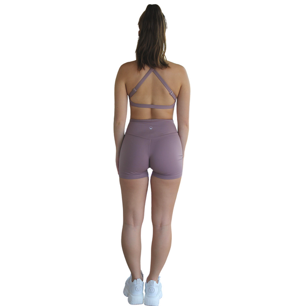 Kali Seamless High Rise Yoga Shorts - Plum