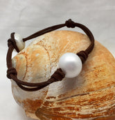 Cape Cod Pearl and Leather Bracelet chosen by style editor of FOOD & WINE Magazine