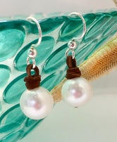 Mooring Pearl and Leather Earring