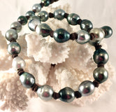 Bowline Tahitian Pearl and Leather Necklace
