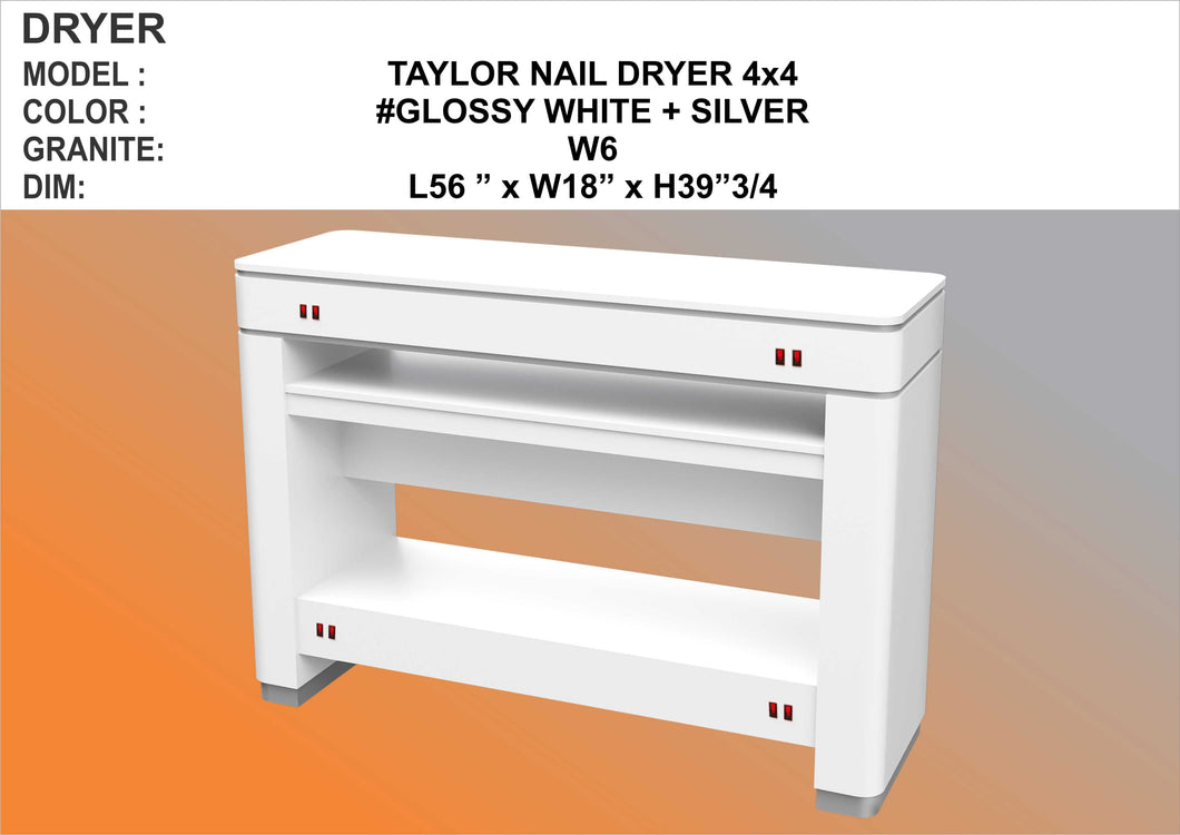 Taylor White Dryer Table