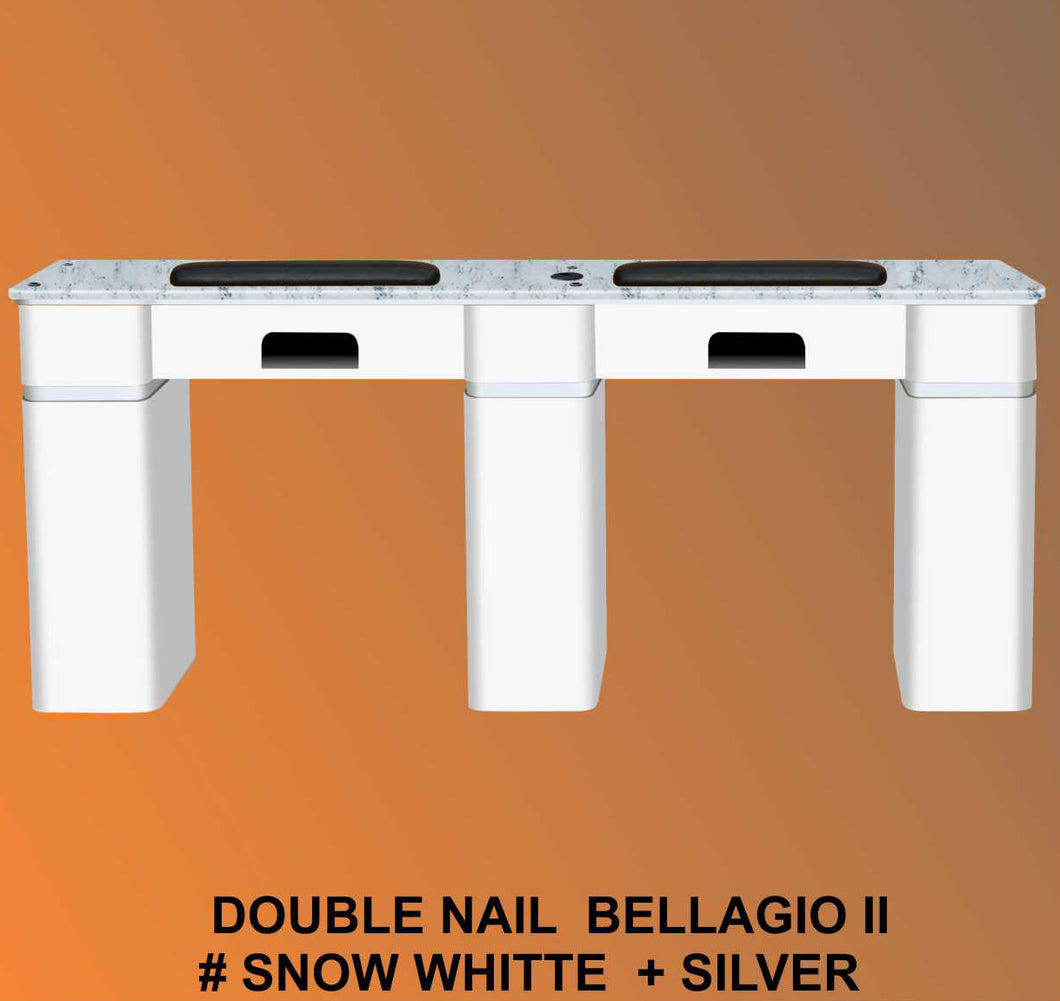 Bellagio II Table Double White 1 UV holes