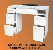 Taylor White Single Table with 1UV