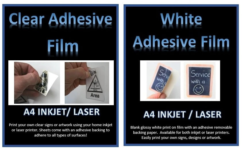 How to print your own signs or custom designs using Adhesive Film A4