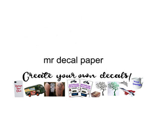 Decal Paper UK Online Shop - Water Slide Specialists MDP