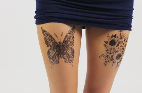 temporary tattoo paper leg tattoos
