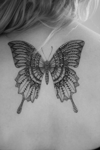 temporary tattoo paper butterfly design