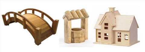 miniature modelling wooden buildings
