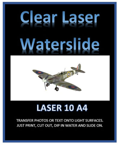 Clear laser printer water slide decal paper