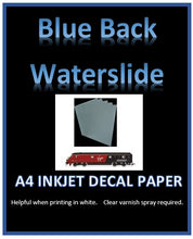 Blue INKJET Water Slide Decal Paper - Custom White Decal Printing Film A4