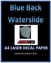 Blue LASER Water Slide Decal Paper - Custom White Decal Printing Film A4