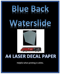 photograph about Printable Decal Paper identify Blue LASER H2o Drop Decal Paper - Personalized White Decal Printing Movie A4