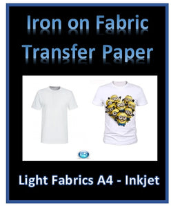 T Shirt Fabric Transfer Paper - Home print your own cotton transfers - Light or Dark Fabrics