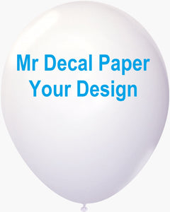 how to print on balloons laser water slide decal paper
