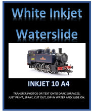 White Inkjet Waterslide Decal Paper - Printing Transfers for Dark Surfaces