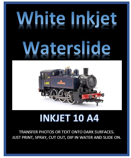 White INKJET Waterslide Decal Paper - custom print your own transfers