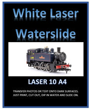 White LASER Water Slide Decal Paper - Laser print your own custom transfers